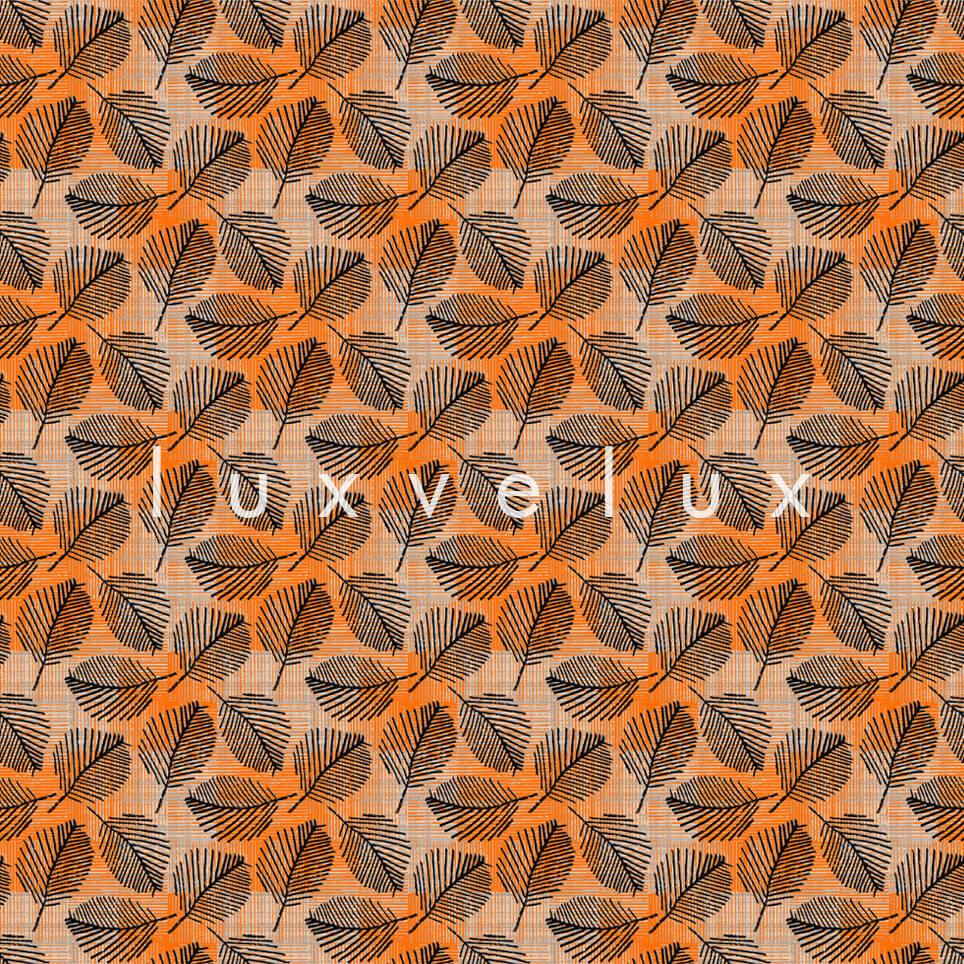 Bamboo Pattern Floor Orange Black Peggy