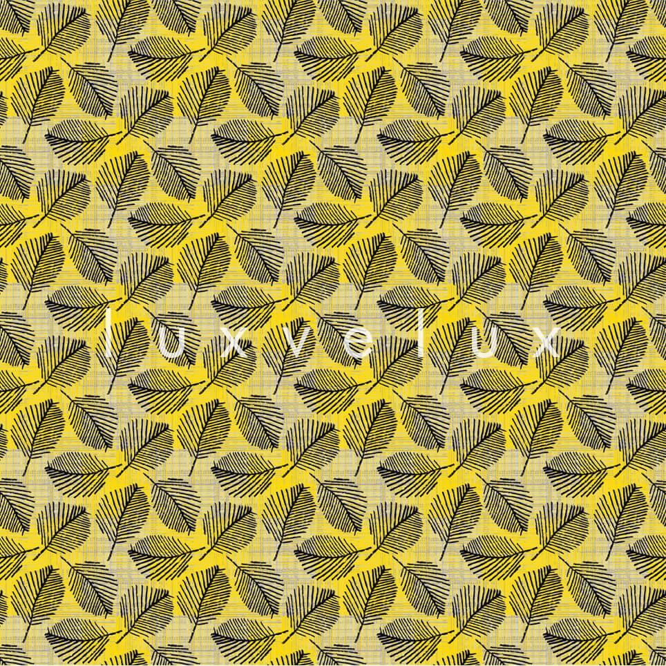 Bamboo Pattern Floor Yellow Black Peggy