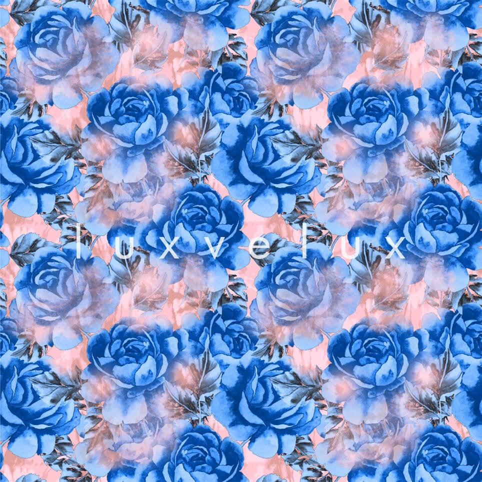 Big Roses Salmon Leaf Sax Madeline