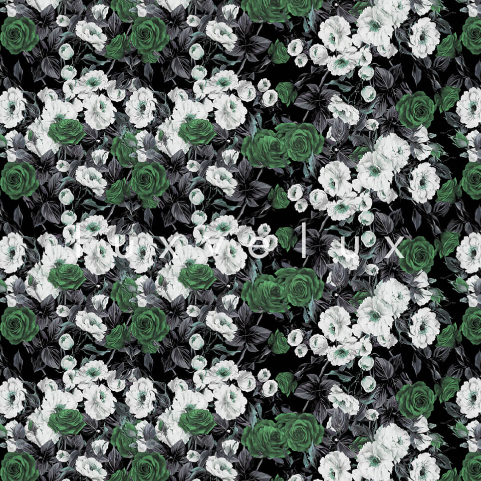 Bouquet Design Green White Roses Nora