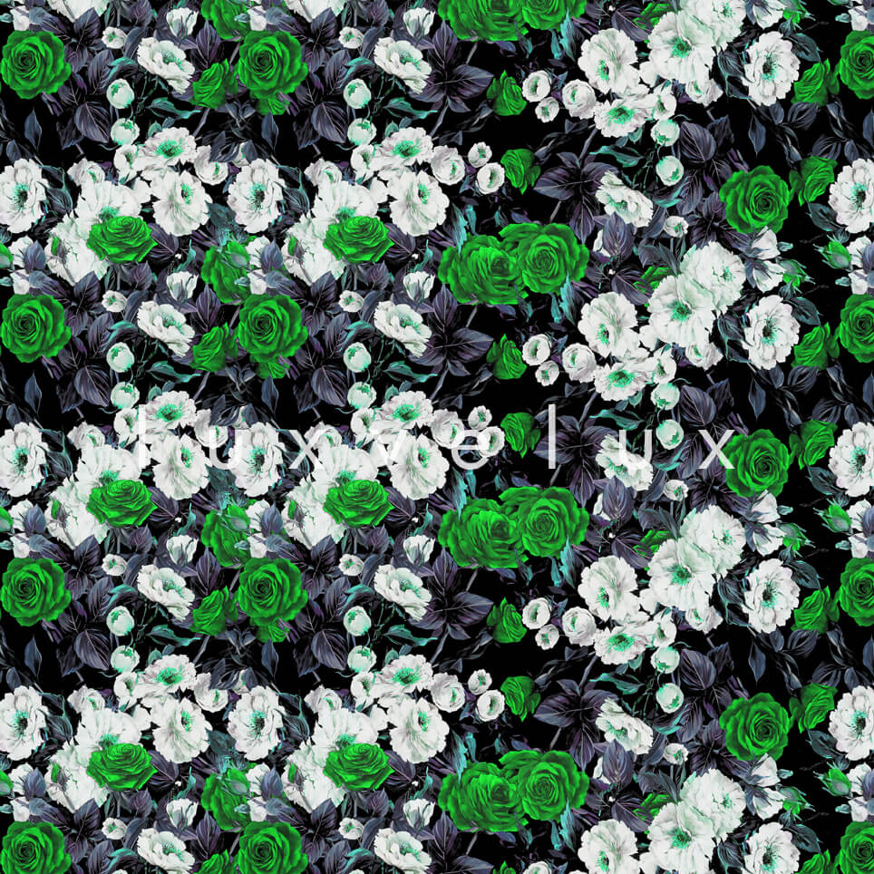 Bouquet Design White Green Roses Nora