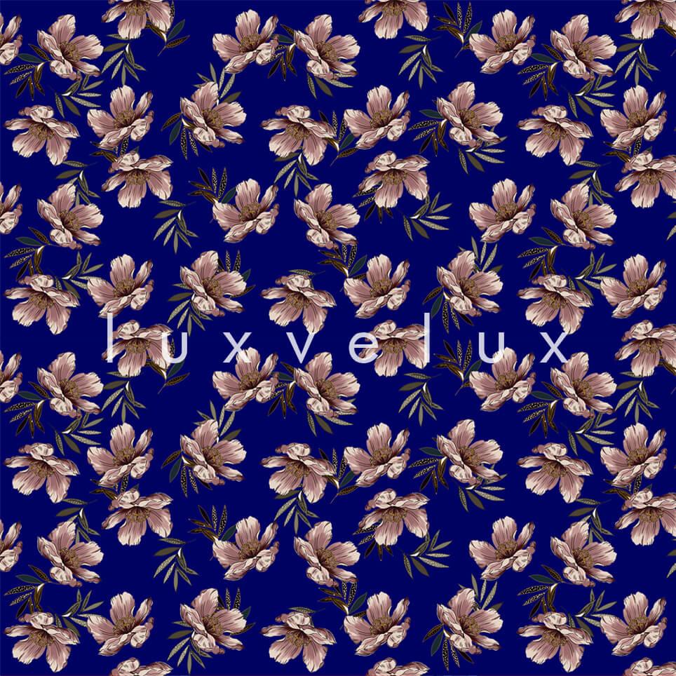 Bush Bird Pattern Navy Cream Rachel