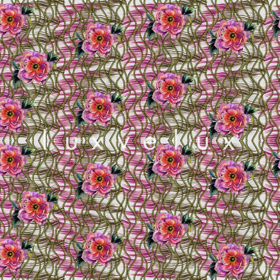 Chain Pattern Yellow Flowers Fuchsia Nicola
