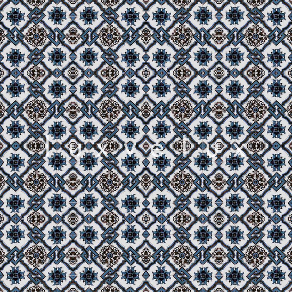 Chain Tile Pattern Mint Brown Rena