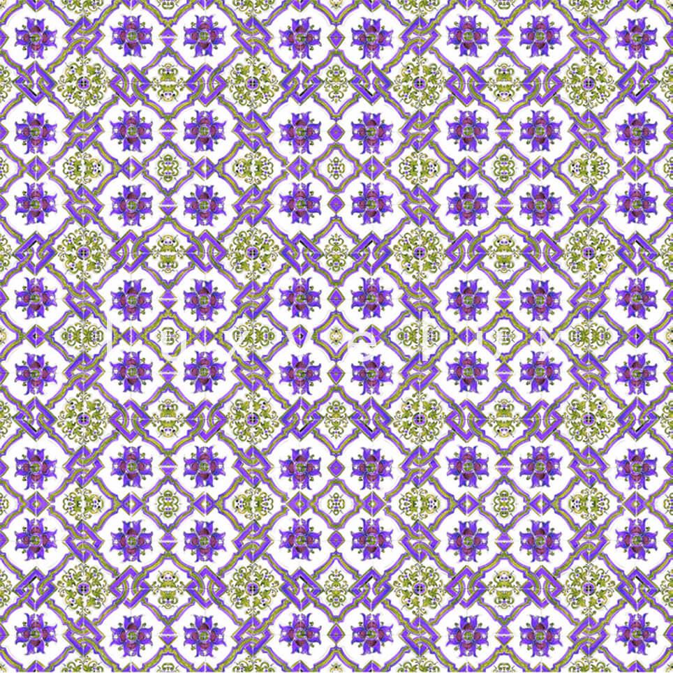 Chain Tile Pattern Yellow Purple Rena