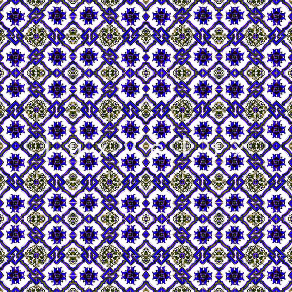 Chain Tile Pattern Yellow Sax Rena