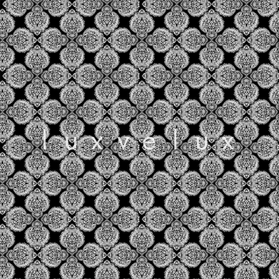 Cushion Pattern Ground Black And White Lana