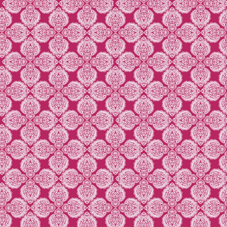 Cushion Pattern Ground Pink And White Lana