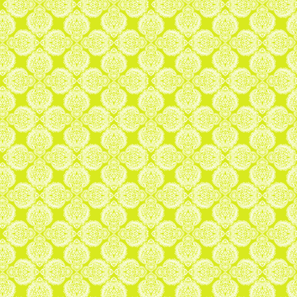 Cushion Pattern Ground Yellow And White Lana