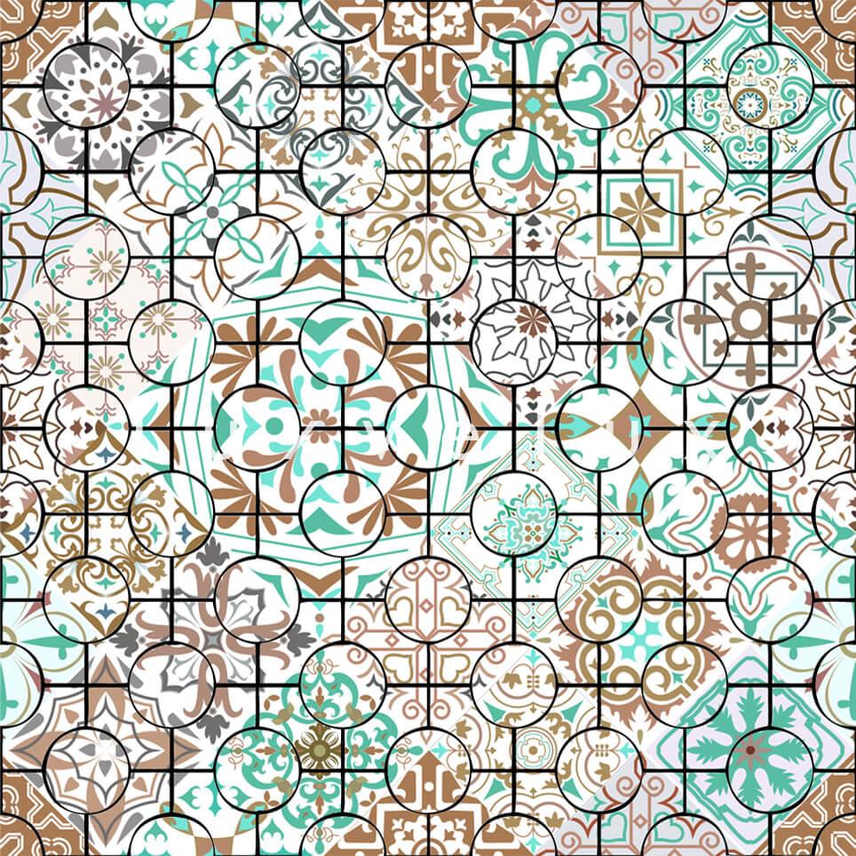 Ethnic Tile Mint turquoise Latonya