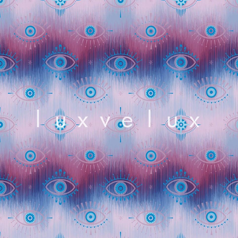 Eye Lash Pattern Blue Gwen