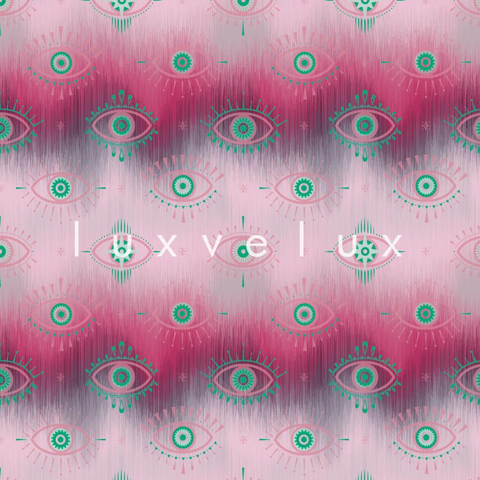 Eye Lash Pattern Pink Gwen