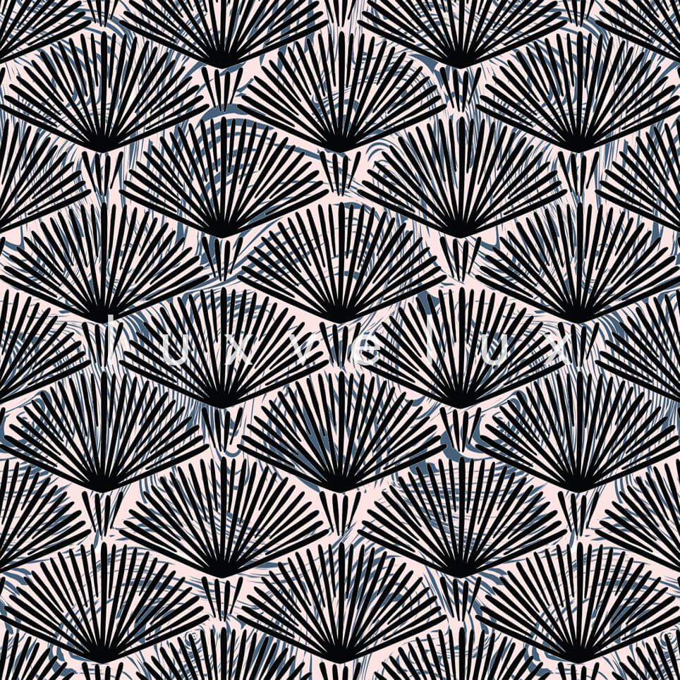 Fireworks Pattern Mink Black Pansy