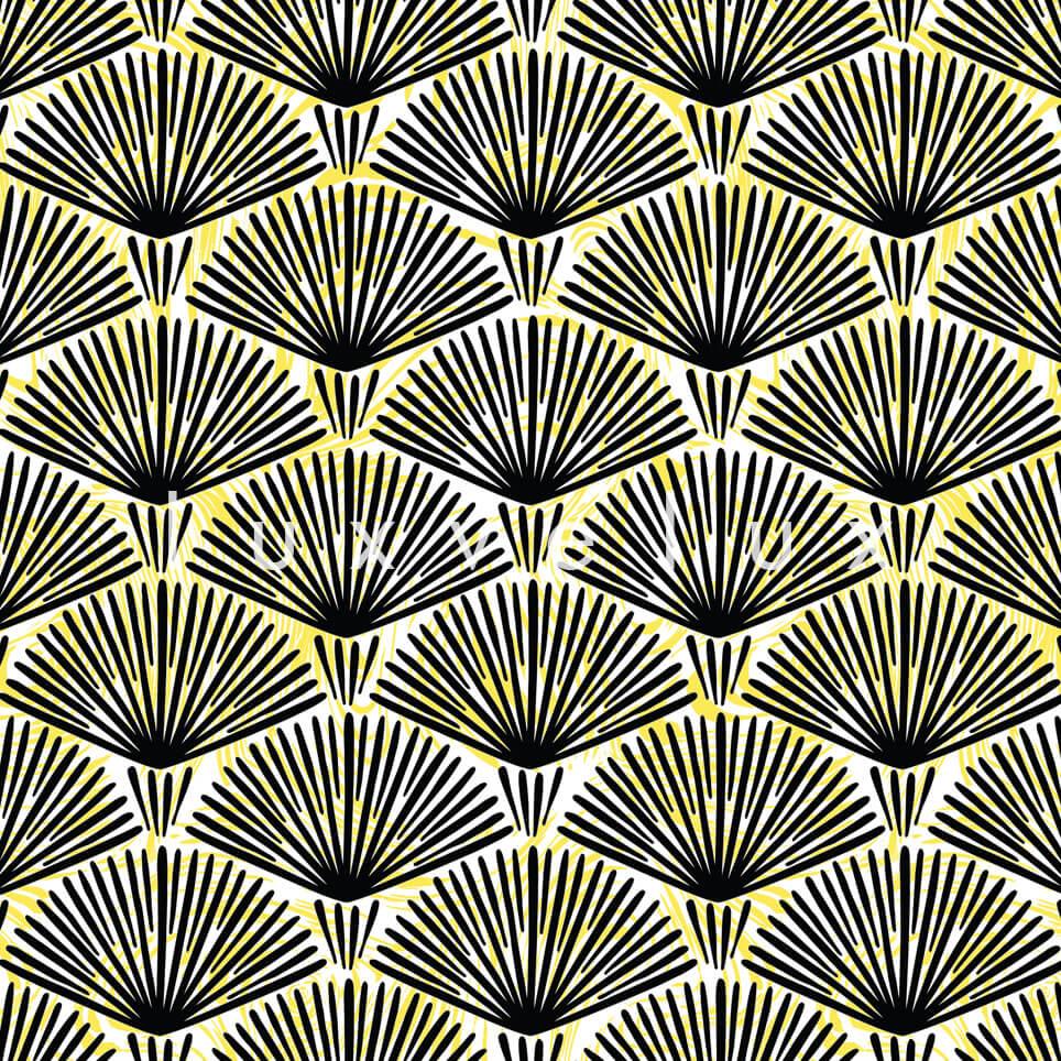 Fireworks Pattern Yellow Black Pansy