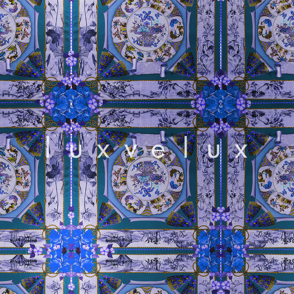 Historic Tile Pattern Blue Katy
