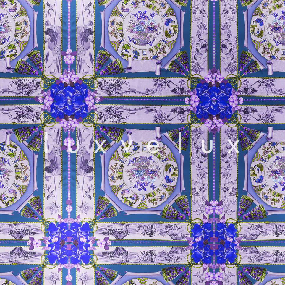 Historic Tile Pattern Light Blue Katy