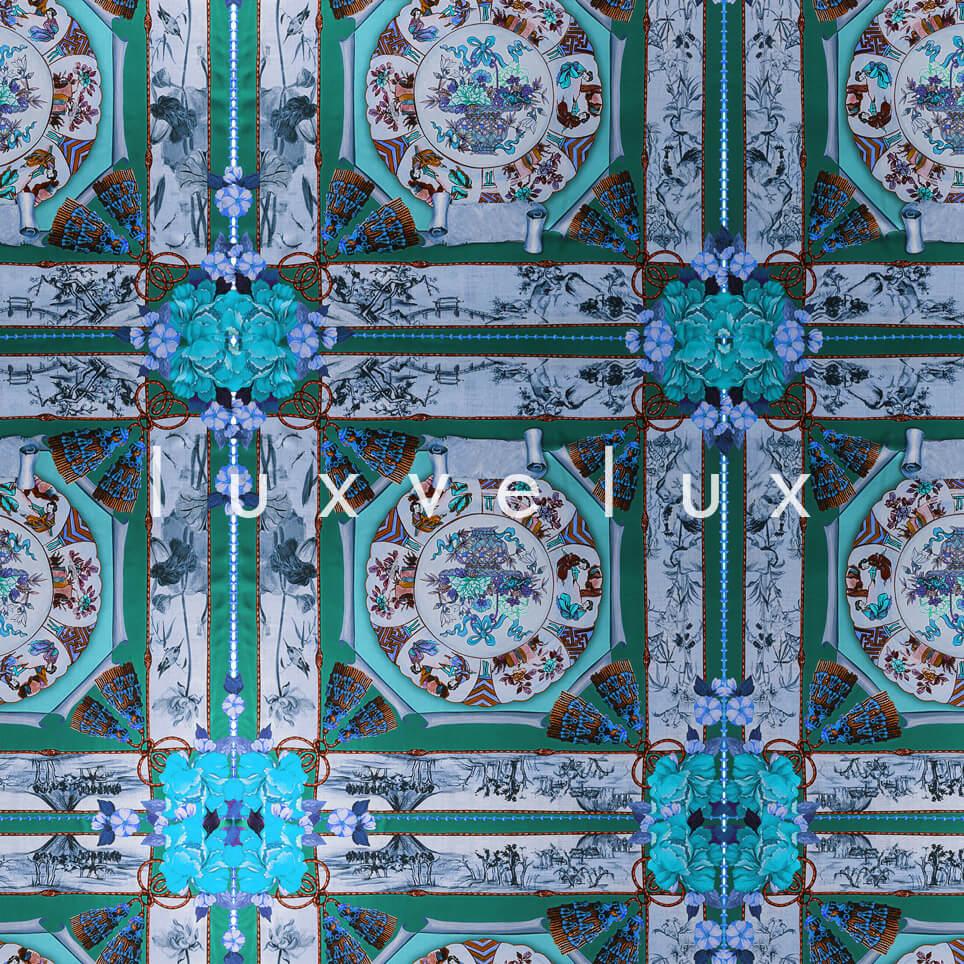 Historic Tile Pattern Mint Katy