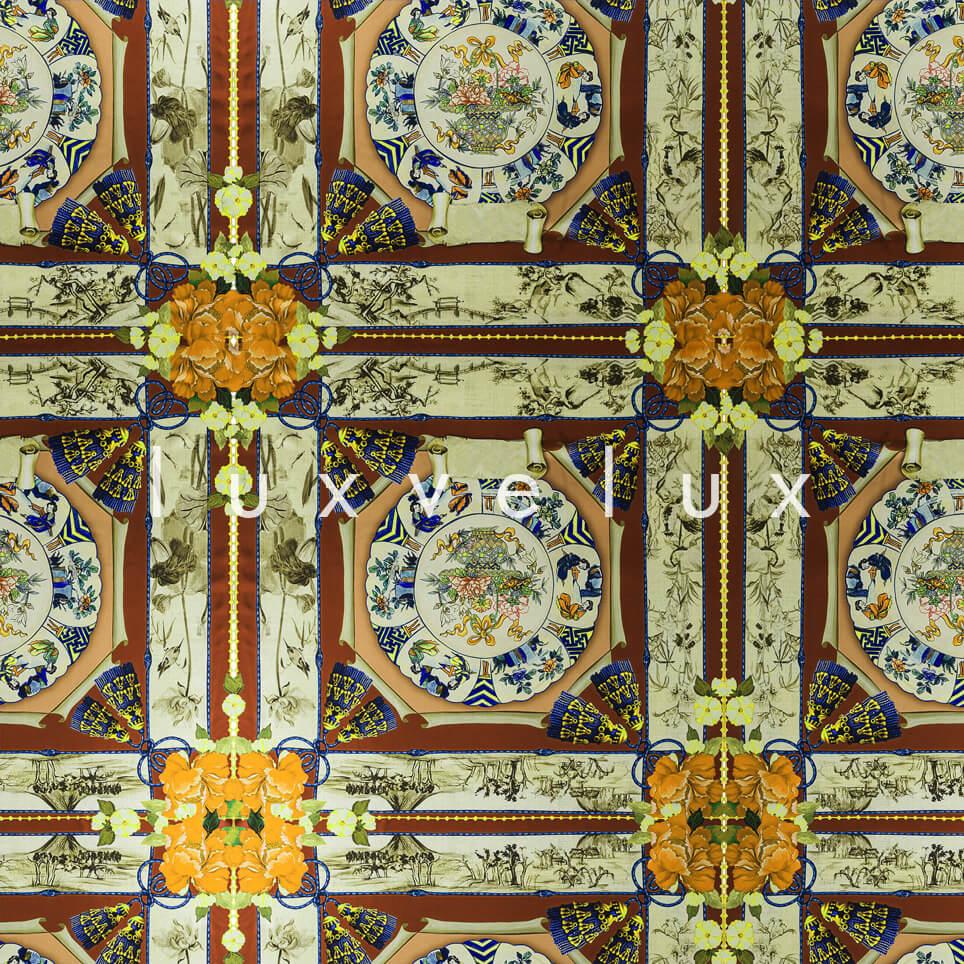 Historic Tile Pattern Orange Katy