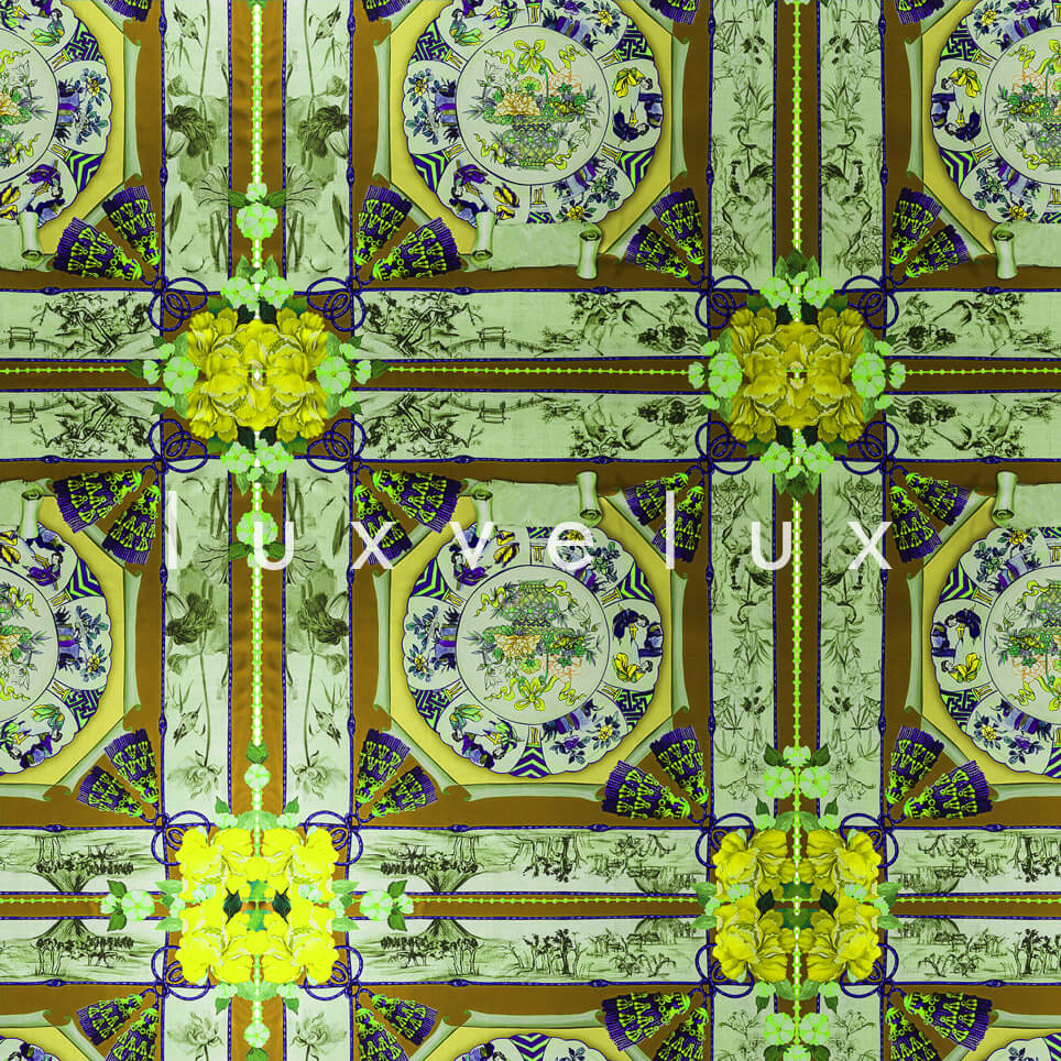Historic Tile Pattern Yellow Katy