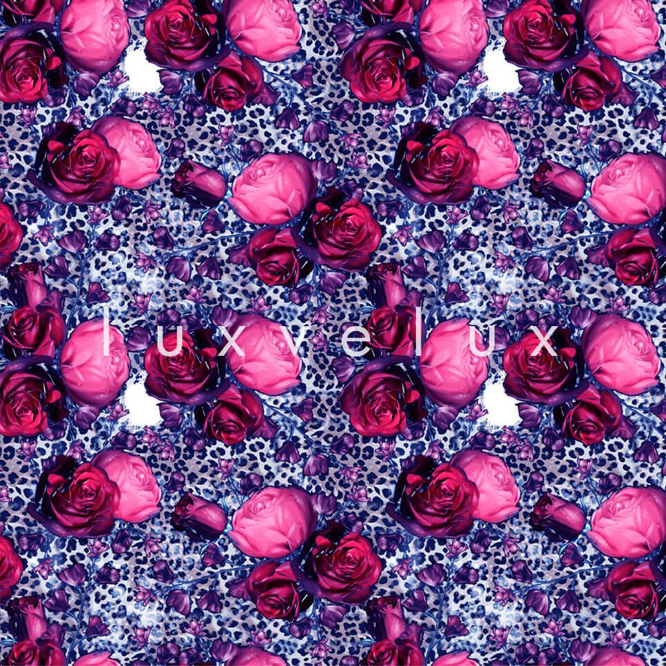 Leopard Big Rose Mink Coral Melissa
