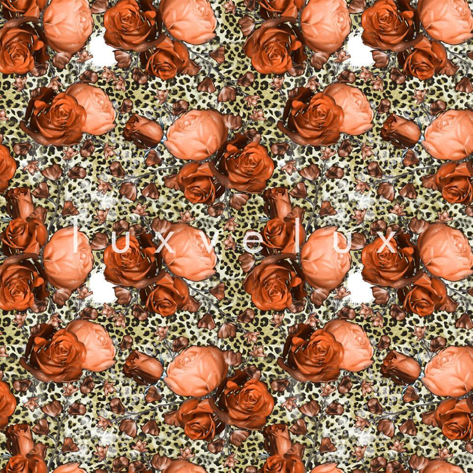 Leopard Big Rose Mink Orange Melissa