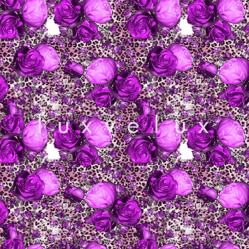 Leopard Big Rose Mink Purple Melissa