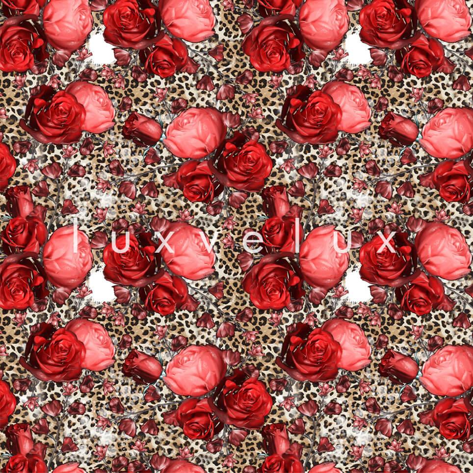 Leopard Big Rose Mink Red Melissa