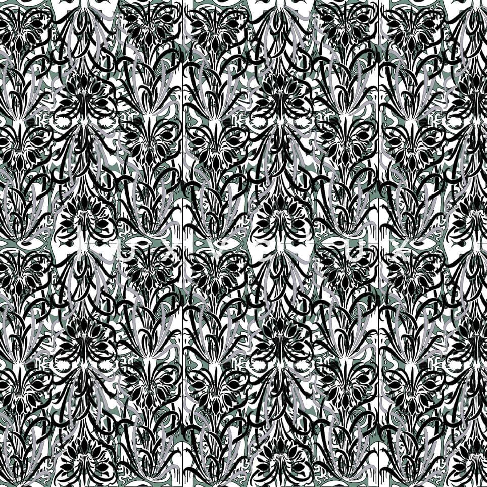 Log Pattern Black White Pamela