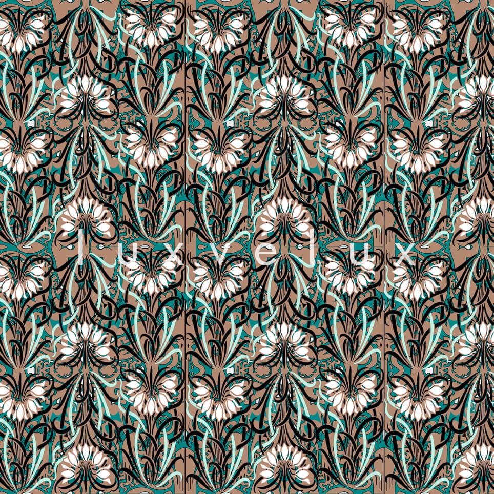 Log Pattern Blue Black Pamela