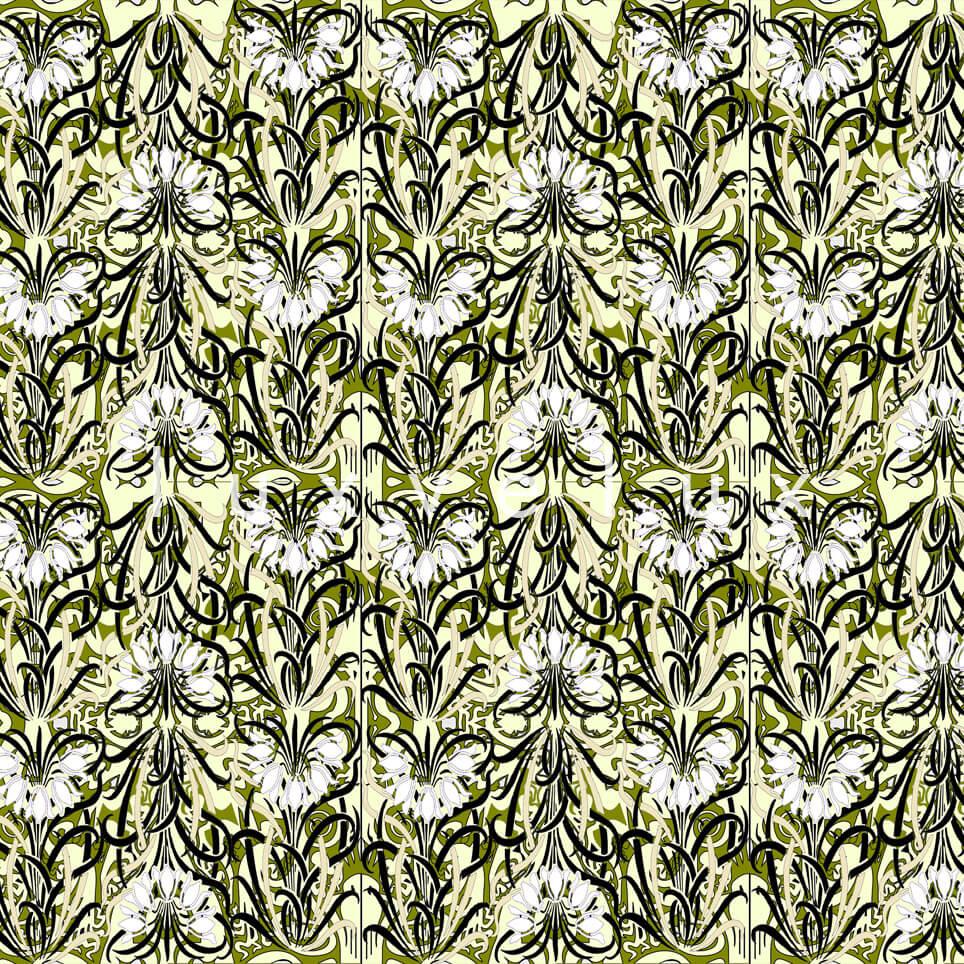 Log Pattern Khaki White Pamela