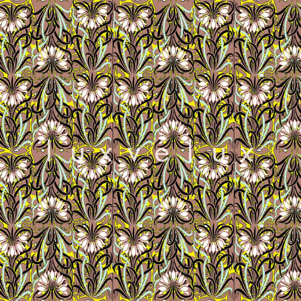 Log Pattern Yellow Cream Pamela