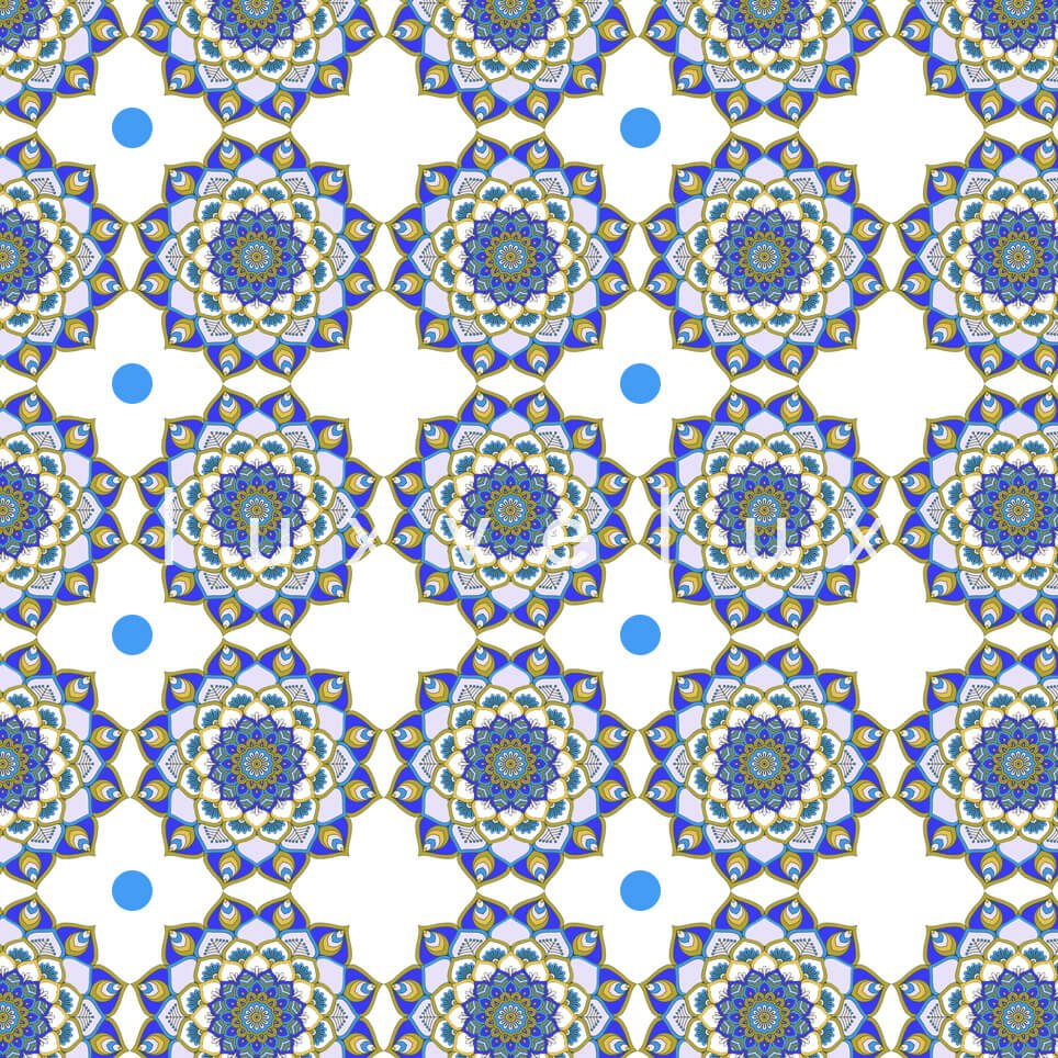 Marbled Pattern Ground Ecru Blue Jasmine