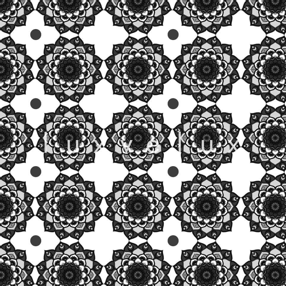 Marbled Pattern Ground Ecru Gray Jasmine