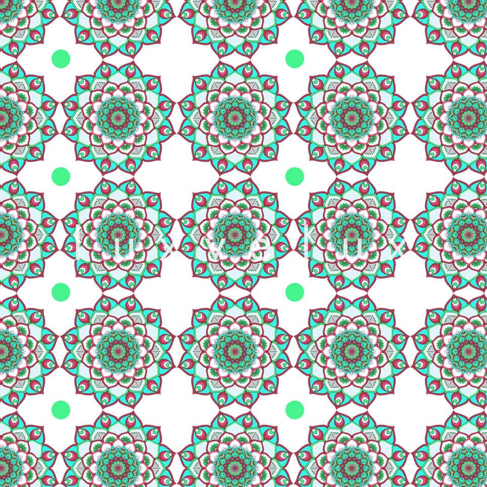 Marbled Pattern Ground Ecru Green Jasmine
