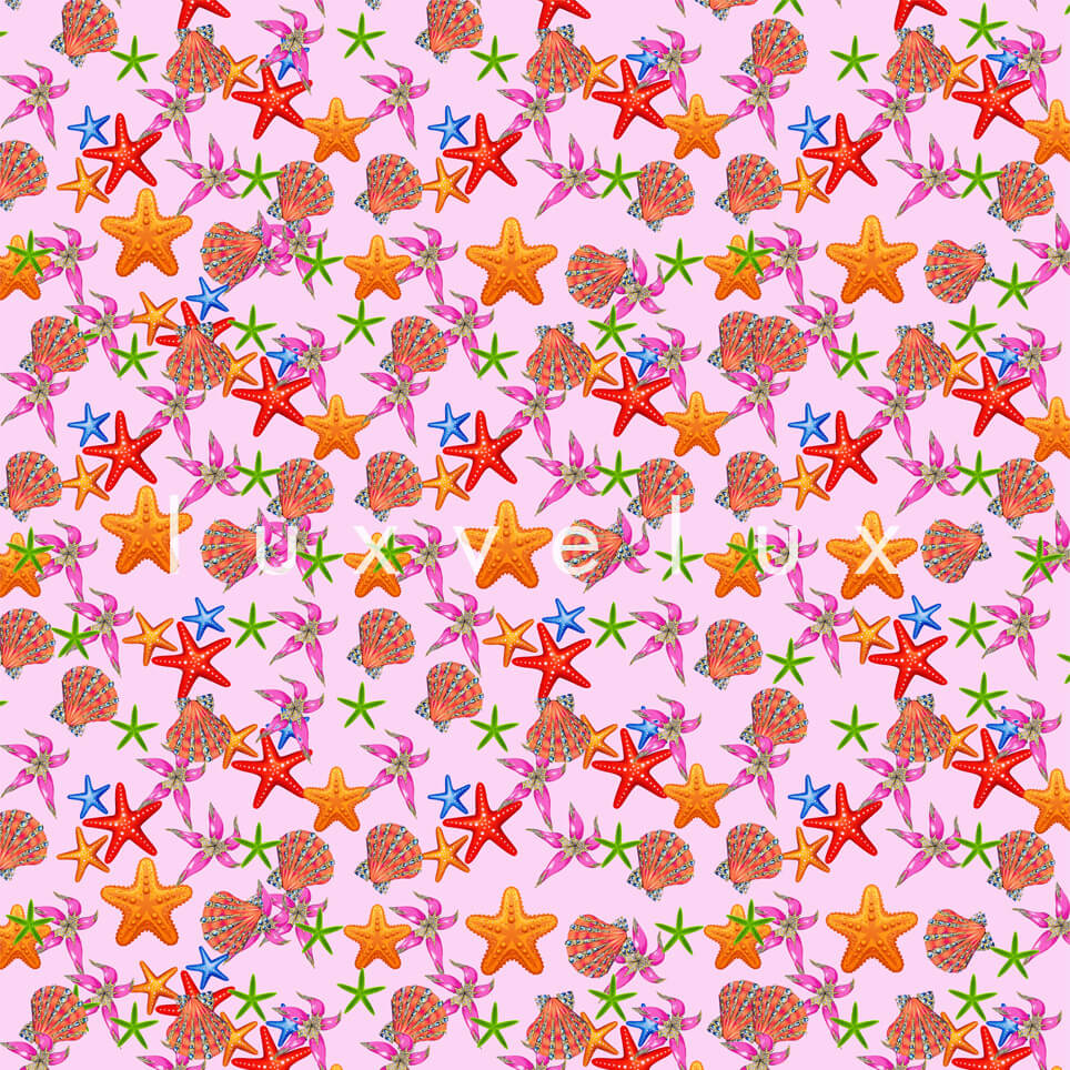 Sea Star Ground Pink Star Yellow Shelby