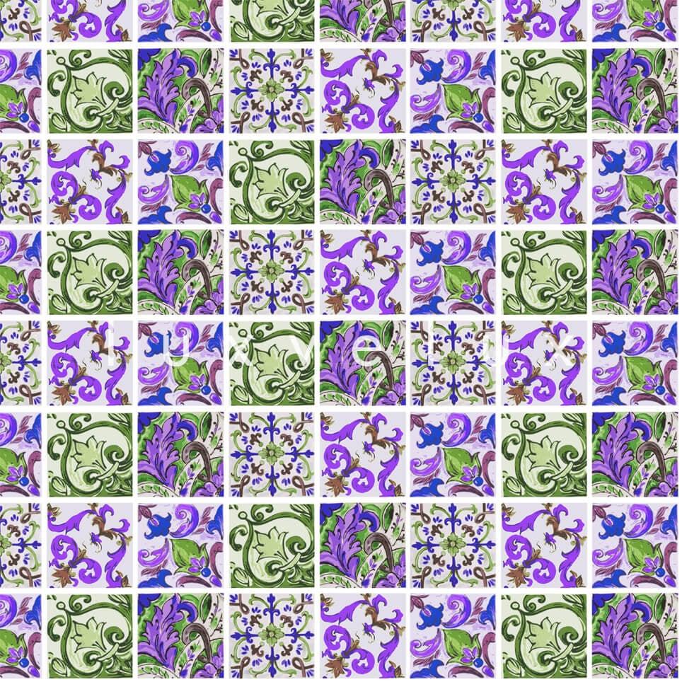 Special Tile Pattern Green Purple Kyla
