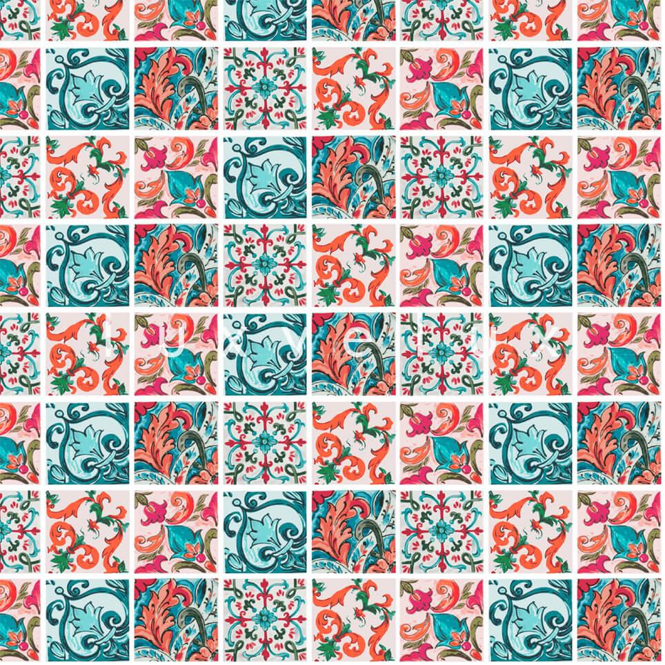 Special Tile Pattern Orange Mint Kyla