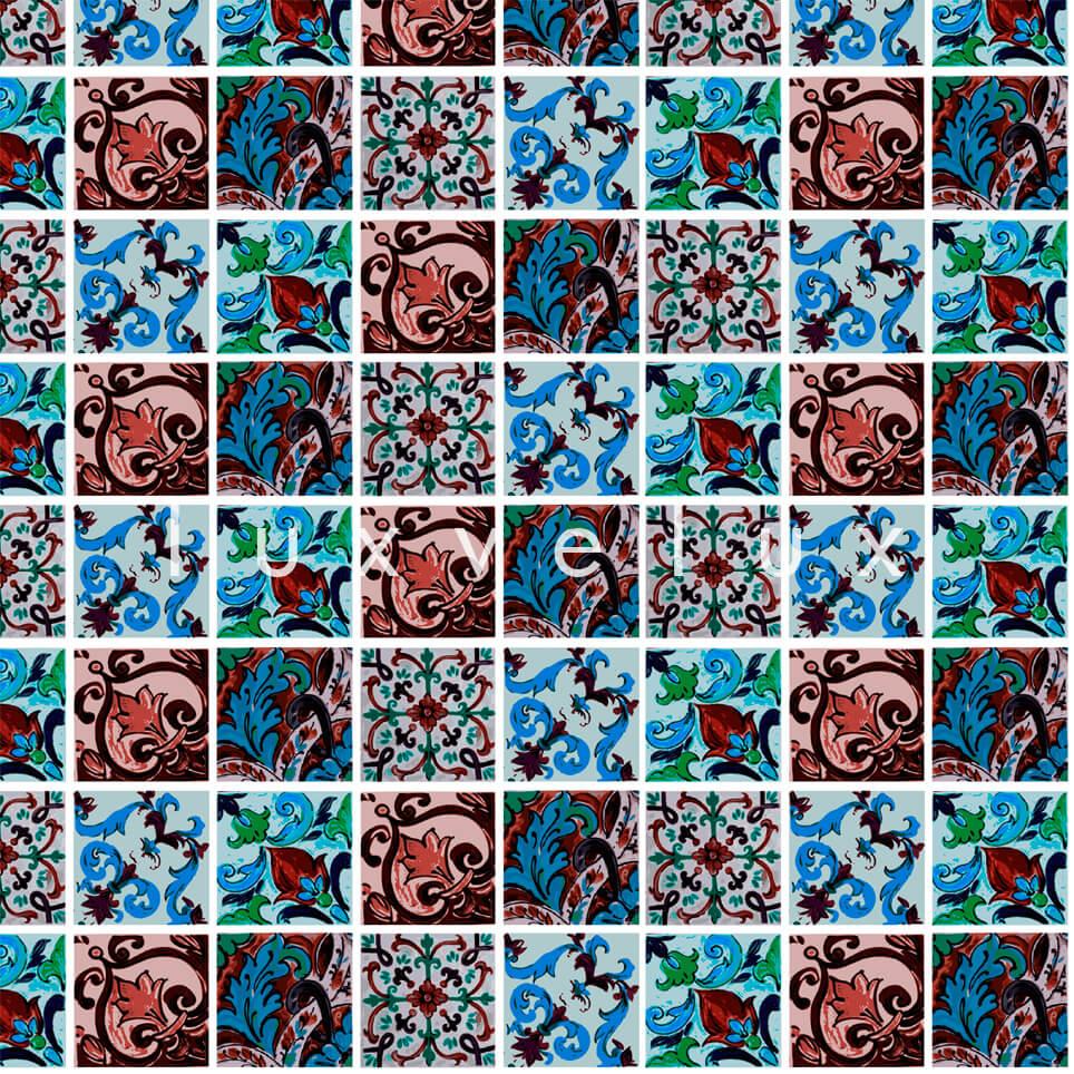 Special Tile Pattern Red Blue Kyla