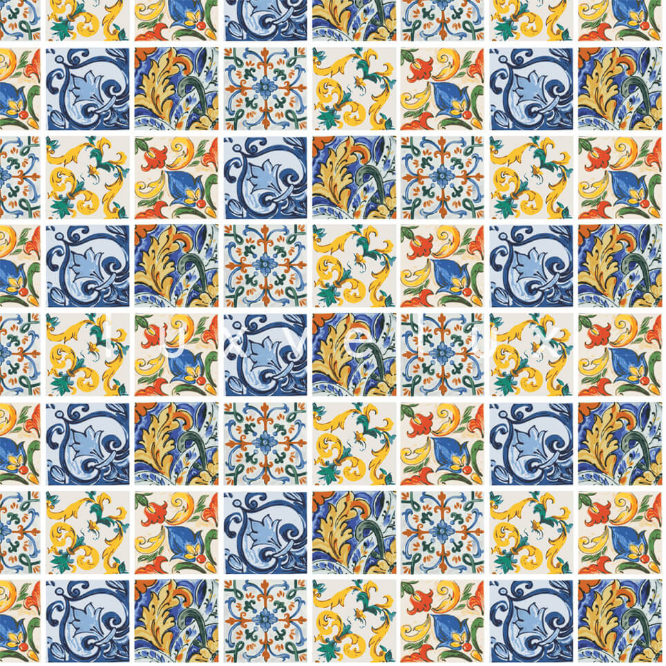 Special Tile Pattern Yellow Blue Kyla