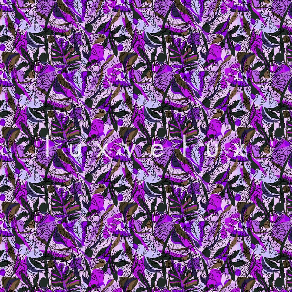 Spider Pattern Flowers Fuchsia Purple Maggie
