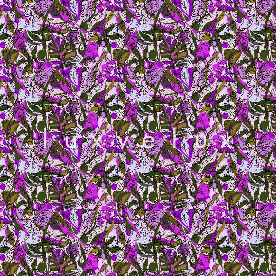 Spider Pattern Flowers Green Purple Maggie