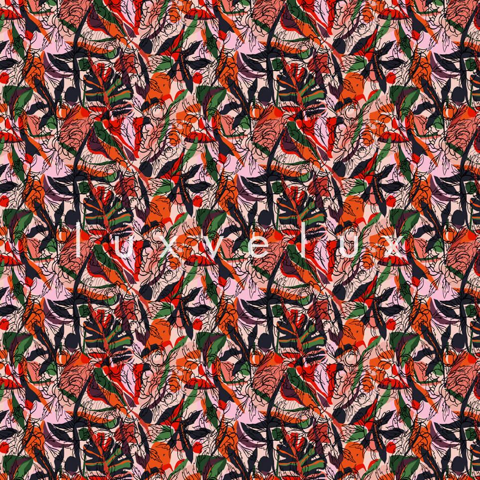 Spider Pattern Flowers Orange Red Maggie
