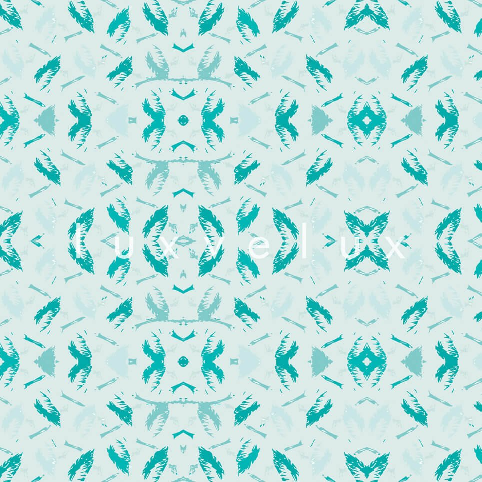 Symmetry Geometry Turquoise Anthracite Pattern Octavia