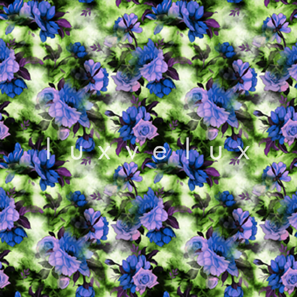 Three dimensional Pattern Green Purple Lavonne