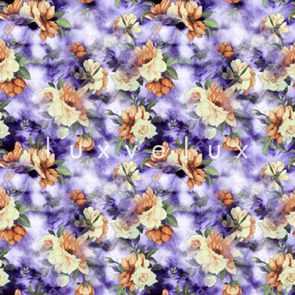 Three dimensional Pattern Orange Purple Lavonne