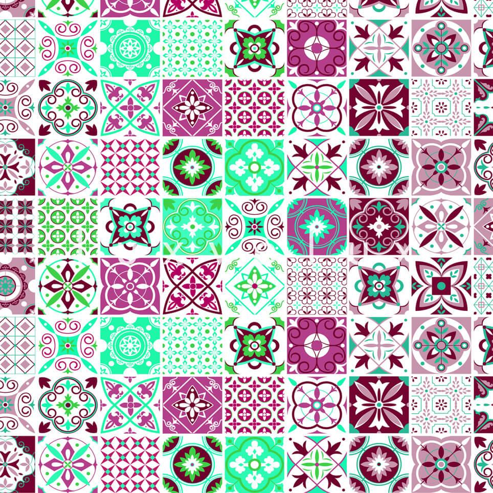 Tile Pattern Purple And Green Georgia
