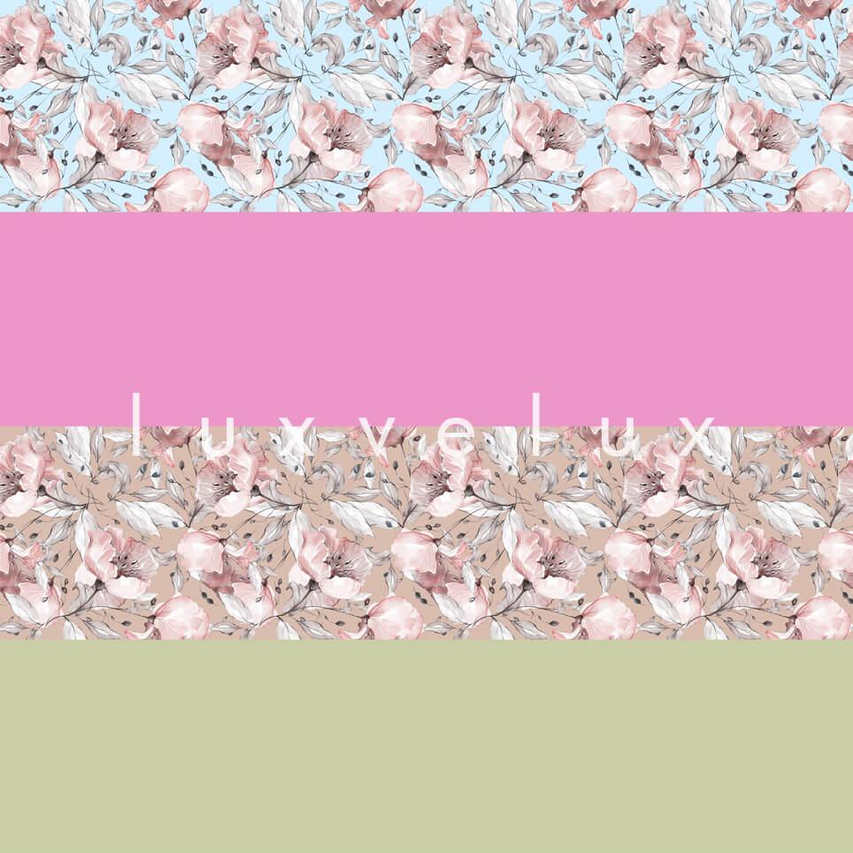 Transverse Line Fuchsia Cream Emilia