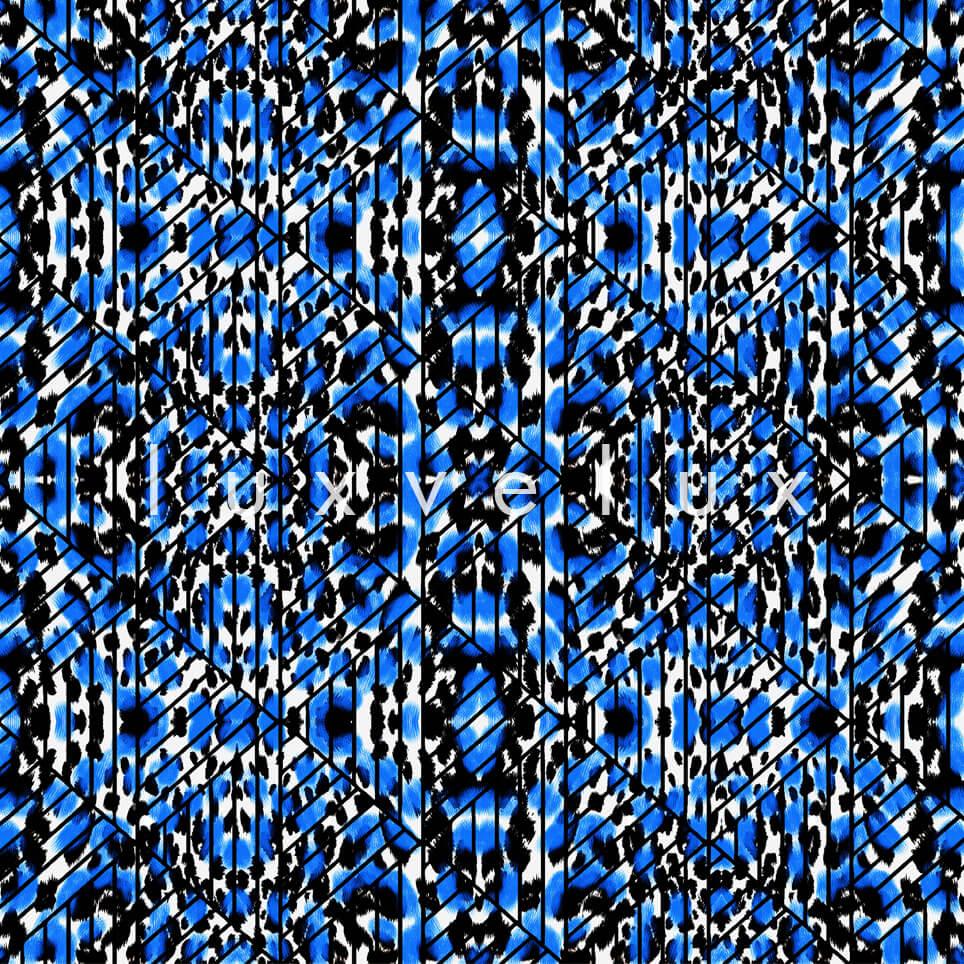 Triangle Leopard Blue White Natalia