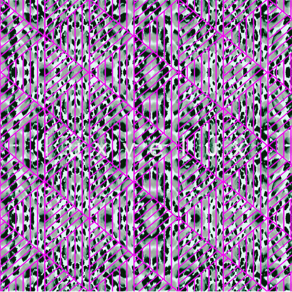 Triangle Leopard Purple Gray Natalia