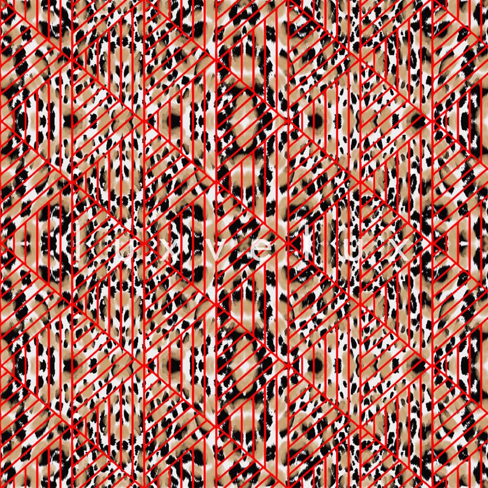 Triangle Leopard Red Mink Natalia